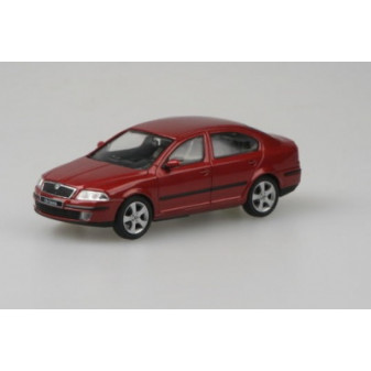 ŠKODA OCTAVIA II SEDAN - 1:43 - ABREX - Red Flamenco Metallic