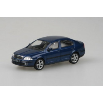 ŠKODA OCTAVIA II SEDAN - 1:43 - ABREX - Deep Sea Blue Metallic