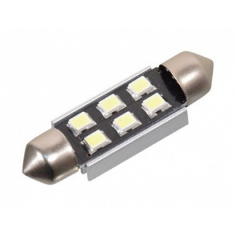 LED SUFITKA COMPASS 12V 6x SMD SV8.5 38mm s rezistorem CAN-BUS - bílá