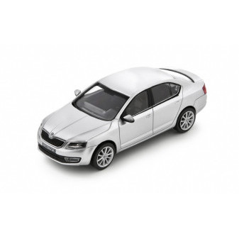 ŠKODA OCTAVIA III SEDAN - 1:43 - ABREX - Silver Brilliant Metallic