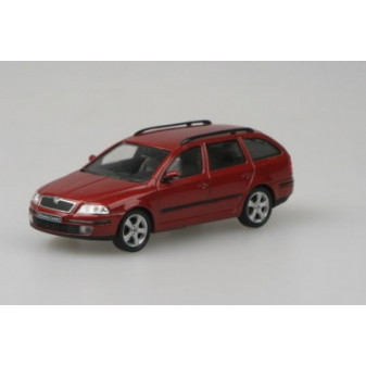 ŠKODA OCTAVIA II COMBI - 1:43 - ABREX - Red Flamenco Metallic
