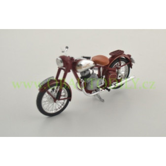 JAWA 250 PÉRÁK (1948) - 1:18 - ABREX - Dark Cherry Red