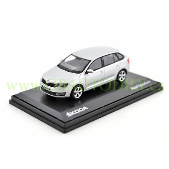 ŠKODA RAPID SPACEBACK - 1:43 - ABREX - Silver Brilliant Metallic