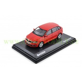 ŠKODA RAPID SPACEBACK - 1:43 - ABREX - Red Corrida Uni