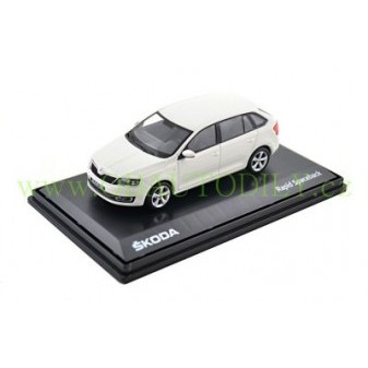 ŠKODA RAPID SPACEBACK - 1:43 - ABREX - White Candy Uni