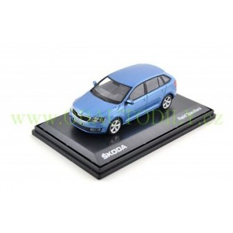 ŠKODA RAPID SPACEBACK - 1:43 - ABREX - Denim Blue Mettalic