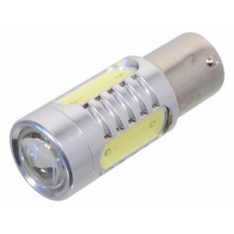 LED žárovka COMPASS 4 SMD 12V Ba15S s rezistorem CAN-BUS ready - bílá