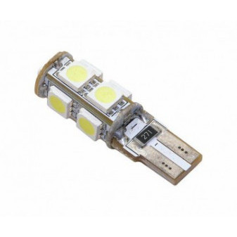 LED ŽÁROVKA COMPASS 9 SMD LED 12V T10 s REZISTOREM CAN-BUS read - bílá