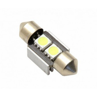 LED ŽÁROVKA COMPASS 2 SMD LED 12V sufitka SV8.5 CAN-BUS ready - bílá