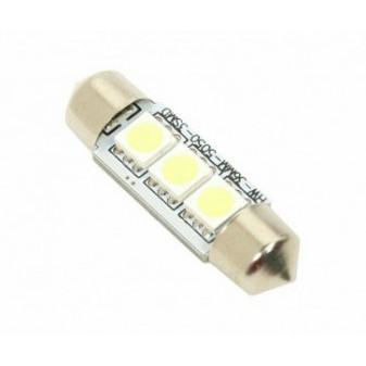 LED ŽÁROVKA COMPASS 3 SMD LED 12V sufitka SV8.5 CAN-BUS ready - bílá