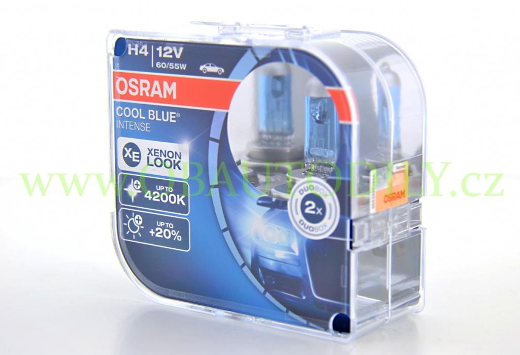 auto rovka h4 12v 60 55w p43t osram cool blue intense 12v. Black Bedroom Furniture Sets. Home Design Ideas
